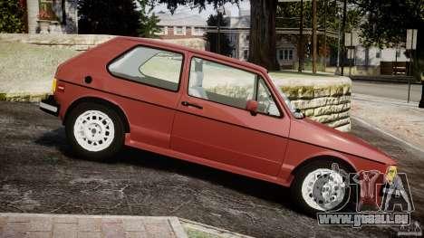 Volkswagen Rabbit 1986 pour GTA 4 est une gauche