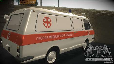 RAF 22031 Krankenwagen für GTA San Andreas Rückansicht