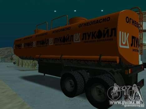 Tank Lukoil für GTA San Andreas zurück linke Ansicht