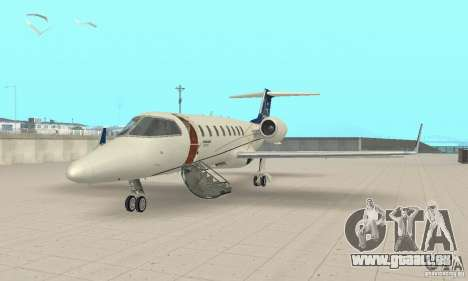 Bombardier Leardjet 45XR pour GTA San Andreas laissé vue