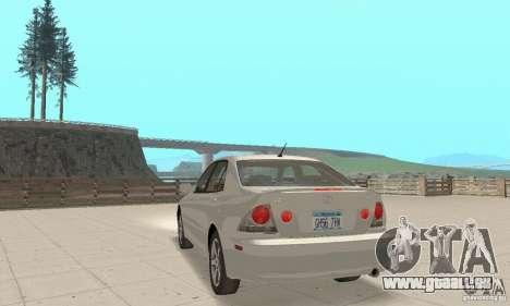 Lexus IS300 Stock pour GTA San Andreas laissé vue