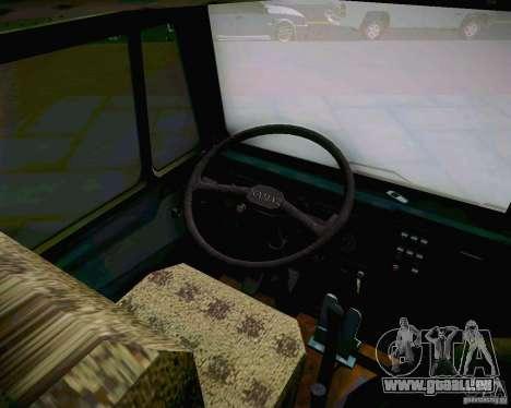 KAMAZ 4310 armée pour GTA San Andreas vue arrière