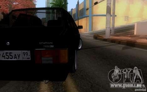 VAZ 21099 Blueline für GTA San Andreas zurück linke Ansicht