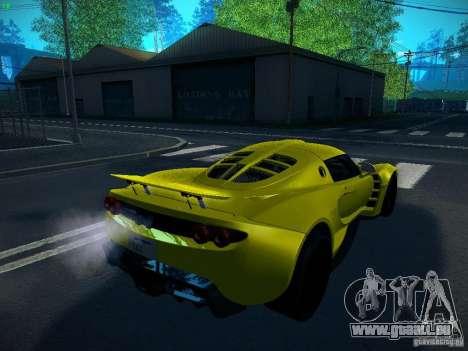 Hennessey Venom GT Spyder pour GTA San Andreas laissé vue