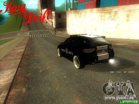 Subaru Impreza WRX Police für GTA San Andreas zurück linke Ansicht