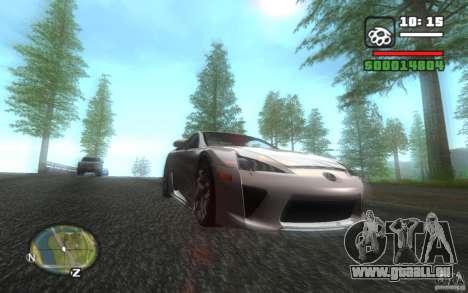 Lexus LFA pour GTA San Andreas vue arrière