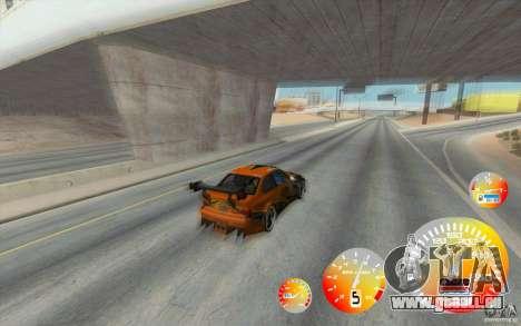 Compteur de vitesse CraZZZy v. 1,2 + limitée die pour GTA San Andreas deuxième écran