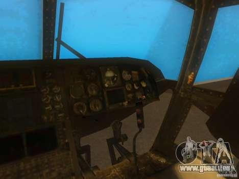 CH46 pour GTA San Andreas vue intérieure