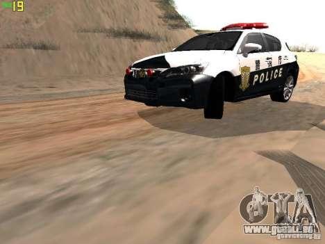 Lexus CT200H Japanese Police für GTA San Andreas linke Ansicht
