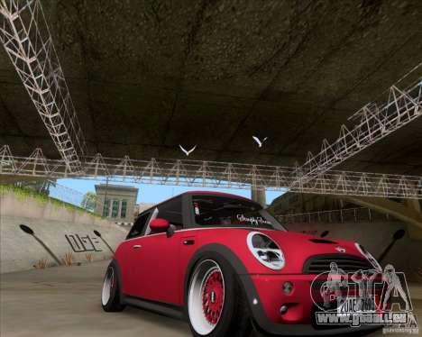 Mini Cooper S Euro pour GTA San Andreas vue de droite
