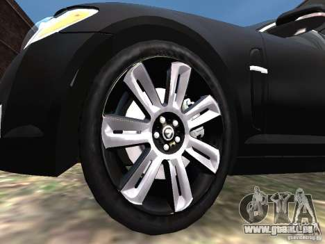 Jaguar XFR für GTA 4 Unteransicht
