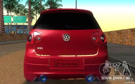 VolksWagen Golf GTI MK5 für GTA San Andreas rechten Ansicht