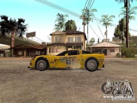 Chevrolet Corvette C6-R pour GTA San Andreas laissé vue