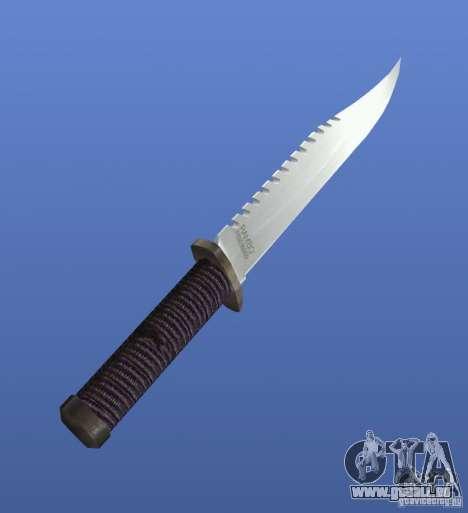 Couteau Rambo sans signature pour GTA 4 secondes d'écran