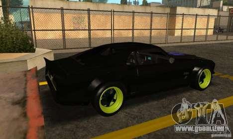 Ford Mustang de NFS Shift 2 pour GTA San Andreas sur la vue arrière gauche