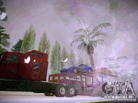 Auto transporteur Trailer pour GTA San Andreas sur la vue arrière gauche