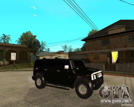 AMG H2 HUMMER SUV FBI pour GTA San Andreas vue de droite