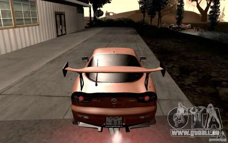 Mazda RX-7 Hellalush pour GTA San Andreas vue de droite