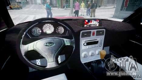 Subaru Forester v2.0 pour GTA 4 Vue arrière