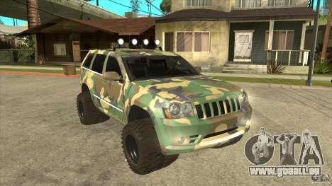 Jeep Grand Cherokee SRT8 Camo pour GTA San Andreas vue arrière