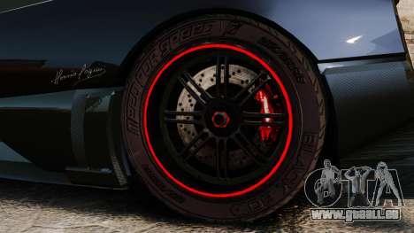 Pagani Zonda Cinque 2009 für GTA 4 Rückansicht