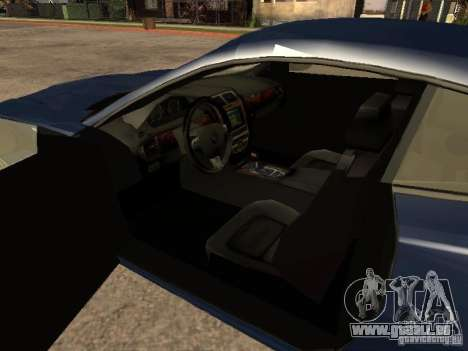 Jaguar XK für GTA San Andreas zurück linke Ansicht