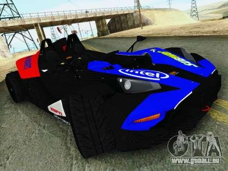 KTM X-Bow 2013 pour GTA San Andreas vue de droite