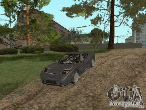 Guépard de GTA 4 pour GTA San Andreas vue intérieure