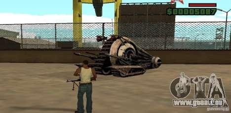 Alliance Tank Droid pour GTA San Andreas laissé vue
