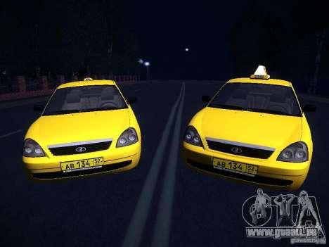LADA Priora 2170 Taxi TMK Nachbrenner für GTA San Andreas rechten Ansicht