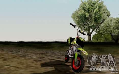 Kawasaki 50cc Pocket Factory Bike für GTA San Andreas rechten Ansicht