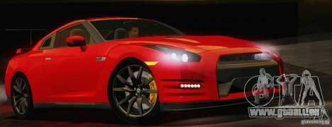 Nissan GTR Black Edition für GTA San Andreas zurück linke Ansicht