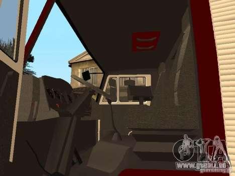 KAMAZ 43253 Rozenbauer pour GTA San Andreas vue arrière