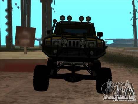 Hummer H3 Trial pour GTA San Andreas vue de droite