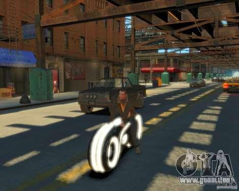 Moto du trône (néon blanc) pour GTA 4