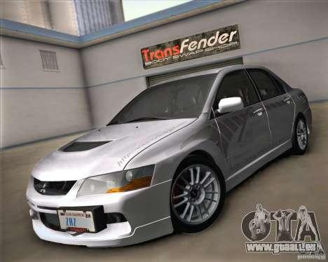 Mitsubishi Lancer Evolution IX Tunable pour GTA San Andreas vue intérieure