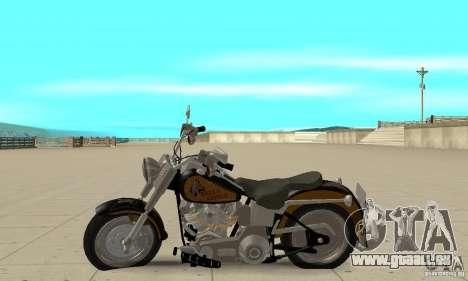 Harley Davidson FLSTF (Fat Boy) v2.0 Skin 3 pour GTA San Andreas laissé vue