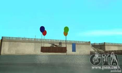 Ballooncraft pour GTA San Andreas sur la vue arrière gauche