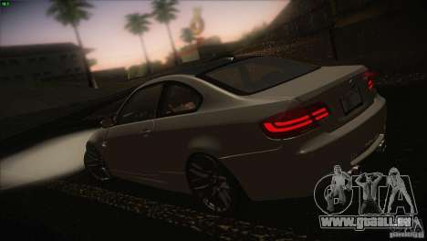 BMW M3 E92 für GTA San Andreas zurück linke Ansicht