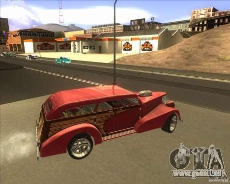Custom Woody Hot Rod pour GTA San Andreas vue intérieure