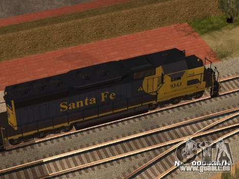SD 40 UP BN Santa Fe für GTA San Andreas