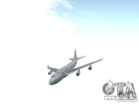 Boeing 747-400 China Airlines für GTA San Andreas Rückansicht
