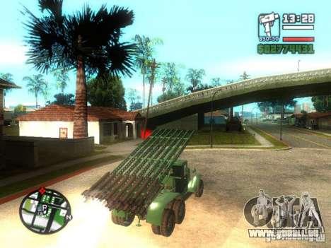 Installation de missile ZiS-6 BM13 pour GTA San Andreas laissé vue
