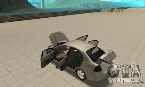 Chevrolet Aveo für GTA San Andreas Innenansicht