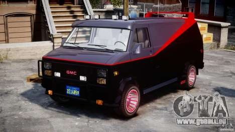 GMC Van G-15 1983 The A-Team pour GTA 4