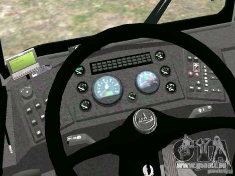 MAZ 5295 v2.0 final pour GTA 4 Vue arrière