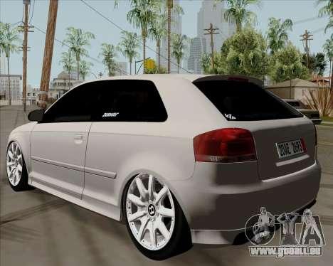 Audi S3 V.I.P pour GTA San Andreas laissé vue