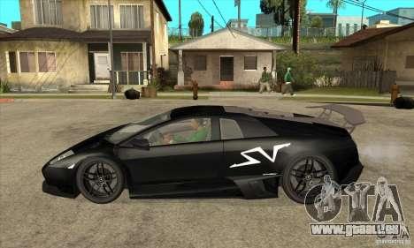 Lamborghini Murcielago LP 670 SV pour GTA San Andreas laissé vue