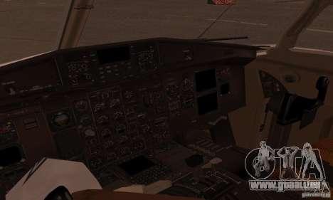 ATR 72-500 UTair pour GTA San Andreas sur la vue arrière gauche