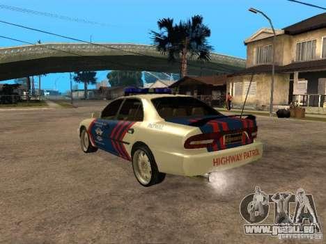 Mitsubishi Galant Police Indanesia pour GTA San Andreas laissé vue